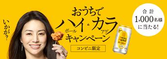 コンビニ限定 おうちでハイ&カラキャンペーン   サントリー